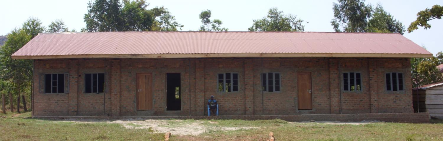 The school building so far